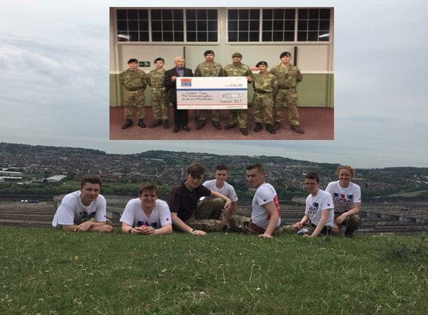 Cadets - charity 10K walkfor Combat Stress