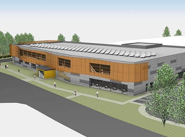 Aerial View of proposed new White Oak Leisure Centre
