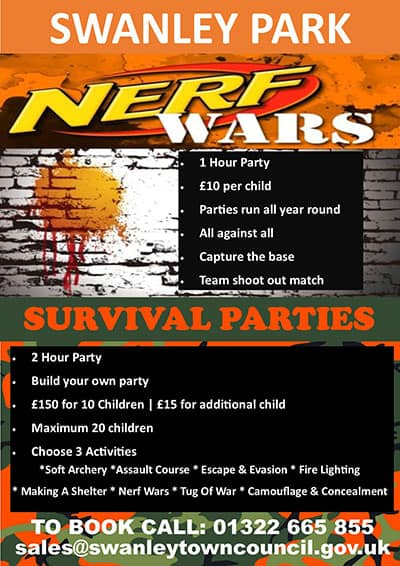 Nerf Wars & Survival Parties