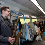 On-board-saxophone-player