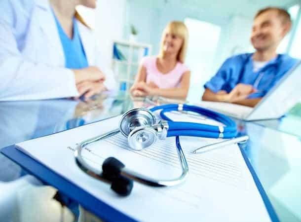doctors with patient