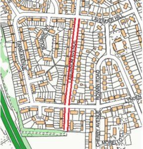 Laburnum Avenue Swanley  map