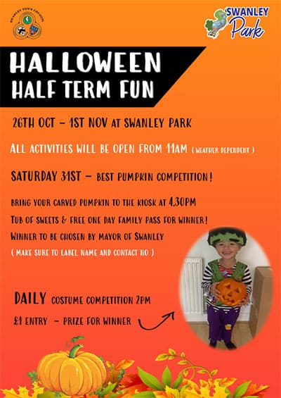 Halloween Half term fun at Swanley Park