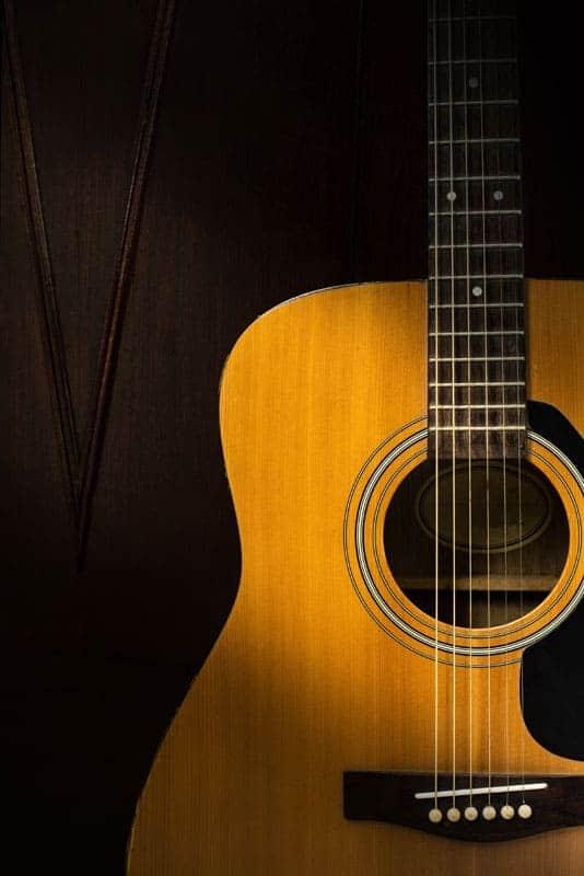 Guitar on a dark background