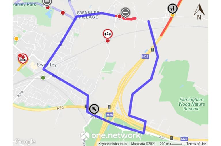 Temporary Road Closure – Swanley Village Road, Swanley – 28th July 2021 for 1 day between 08.00hrs and 16.00hrs