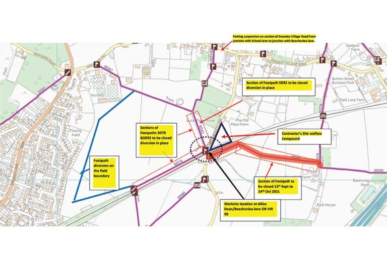 Notice of the making of an Order to temporarily close part of Public Footpath SD80, Swanley