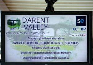 Community Rail Partnership sign
