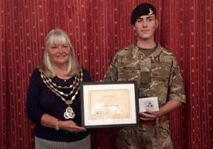Mayor_of_Swanley_Cllr_Lesley_Dyball_makes_a_Presentation_to_her_Cadet