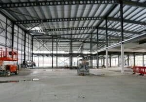 PLPSC260321GWork in progress at the new Swanley Lesuire Centre.