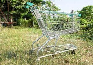 abandoned shopping trollies