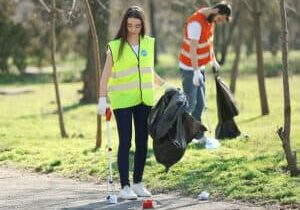 spring clean - litterpickers