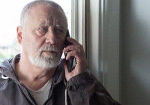 old man on phone